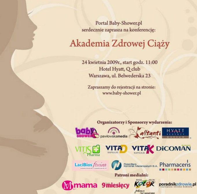 Akademia Zdrowej Ciąży 24 kwiecień 2009 – Rejestracja on-line