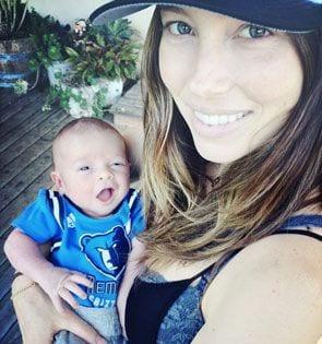 Jessica Biel i Justin Timberlake z nowo narodzonym synkiem