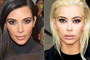 Tajemnica blond włosów Kim Kardashian