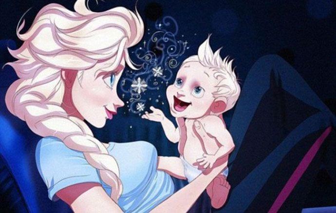 Disneyowskie księżniczki w roli mam