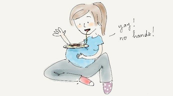 Bycie w ciąży – zabawne grafiki pokazujące prawdzie oblicze bycia w ciąży
