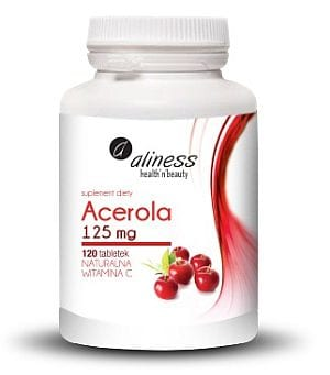 Acerola 125mg x 120 tab. Naturalna Vitamina C-small