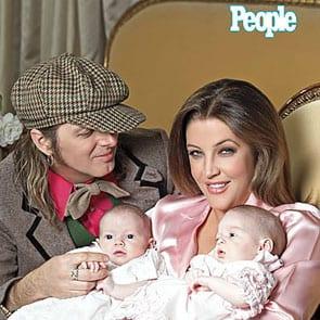 Lisa Marie Presley z bliźniakami
