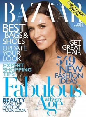 Demi Moore w Harpers Bazaar