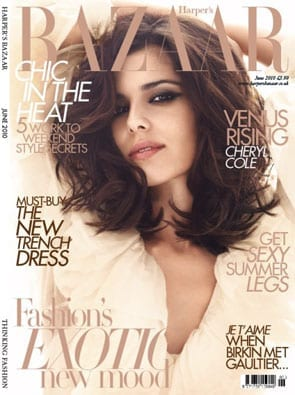 Cheryl Cole na okładce Harper's Bazaar