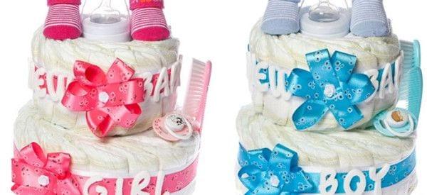 Tort z pieluszek na Baby Shower - taki prezent ucieszy mamę