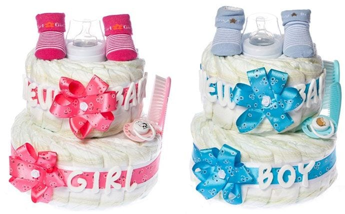 Tort z pieluszek na Baby Shower – taki prezent ucieszy mamę