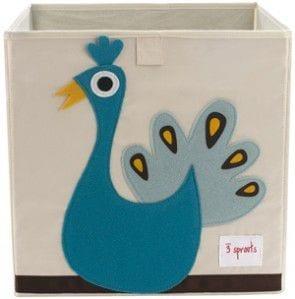 Kolorowe pudełko na zabawki pomoże utrzymać porządek w dziecięcym pokoju