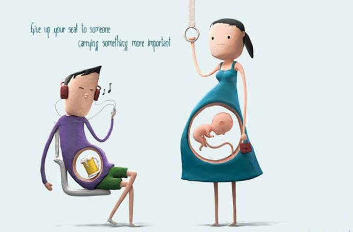 Liczy się wnętrze – akcja na rzecz kobiet w ciąży podróżujących komunikacją miejską