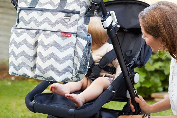 Modna torba do wózka dla mamy