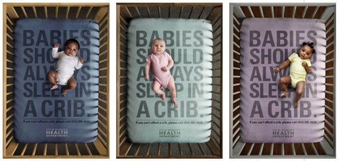 Spanie z dziećmi w łóżku – szokująca kampania dla rodziców