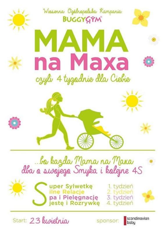 Kampania BuggyGym MAMA NA MAXA - plakat