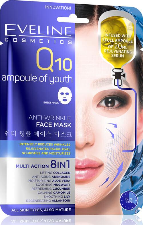 Przeciwzmarszczkowa maska do twarzy Q10