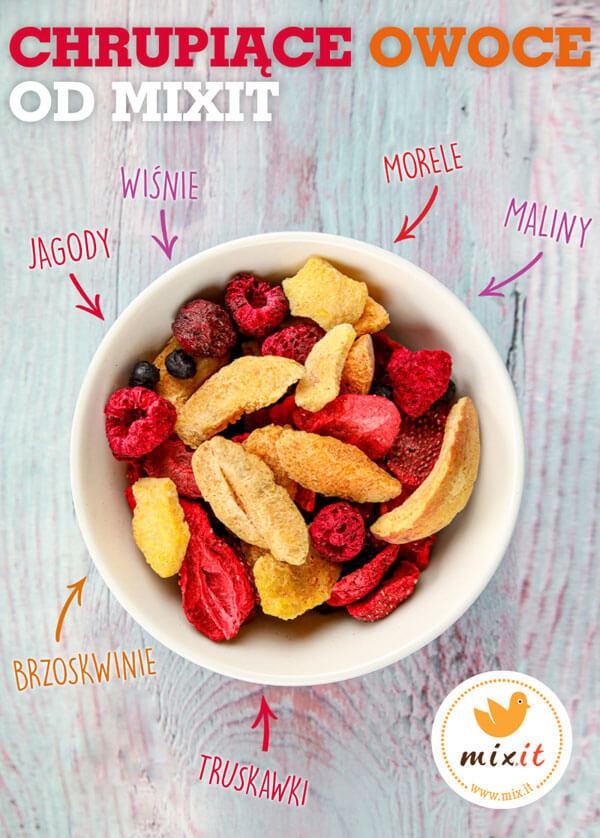 liofilizowane owoce