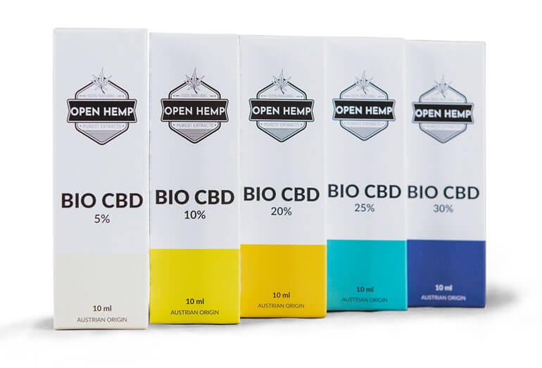 Olejki bio CBD