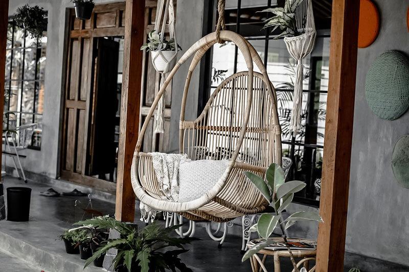 fotel wiszący na taras